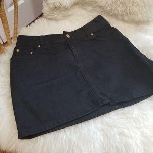 H&M Black Jeans Skirt Mini